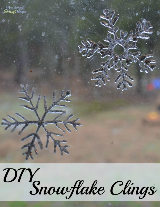Create DIY Snowflake Window Clings Our Homemade Life - Snowflake window stickers amazon
