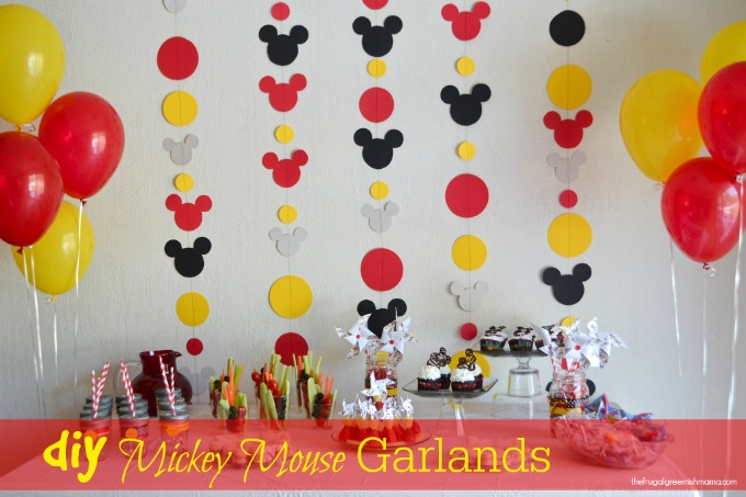 DIY: Mickey Garland Decoration - Our Homemade Life