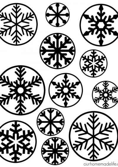 How to Make Puffy Paint Snowflake Clings