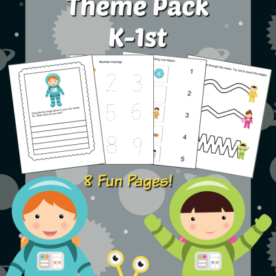 Space Pack Printables for K-1st Grade