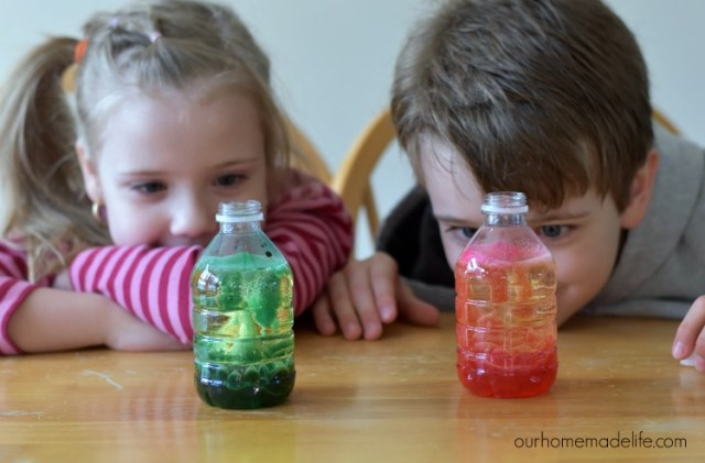 science in the kitchen - Lava in a bottle