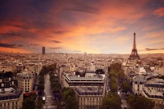 Paris Skyline - a memorable honeymoon destinations