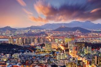 seoul skyline, south korea