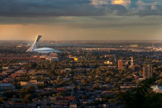 canada quebec montreal olympic stadium view from mont royal