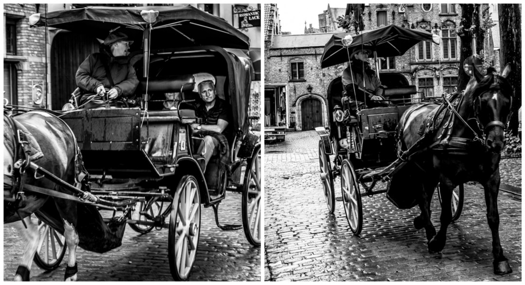 Horse drawn carriage in Bruges