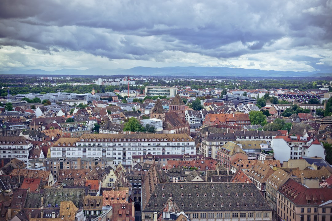 View from Cathedrale Notre Dame Strasbourg