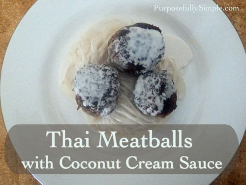 Thai meatballs with Coconut Cream Sauce
