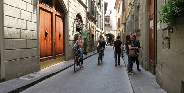 Watch out for the cyclists in Florence
