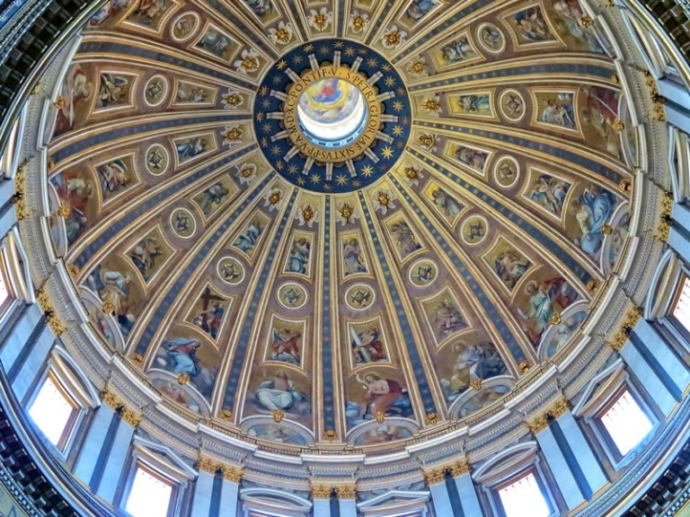 The domes of churches make beautiful canvases