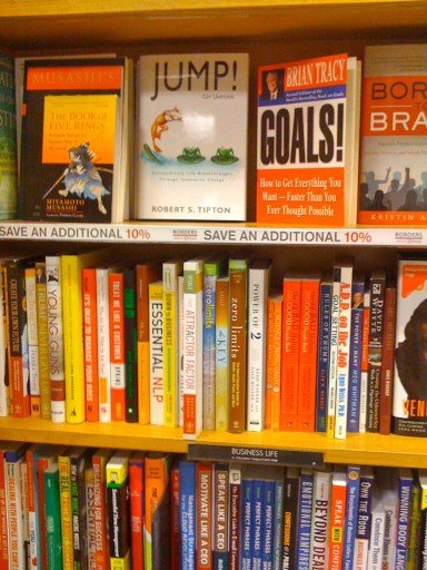 JUMP! on the shelves at the Borders in Torrance, CA 10/30/2010