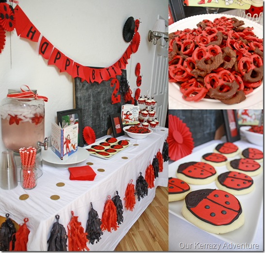 Lady Bug Girl Party Treat Ideas OUr Kerrazy Adventure