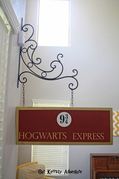 DIY Hogwarts Express Sign- Harry Potter Party Ideas