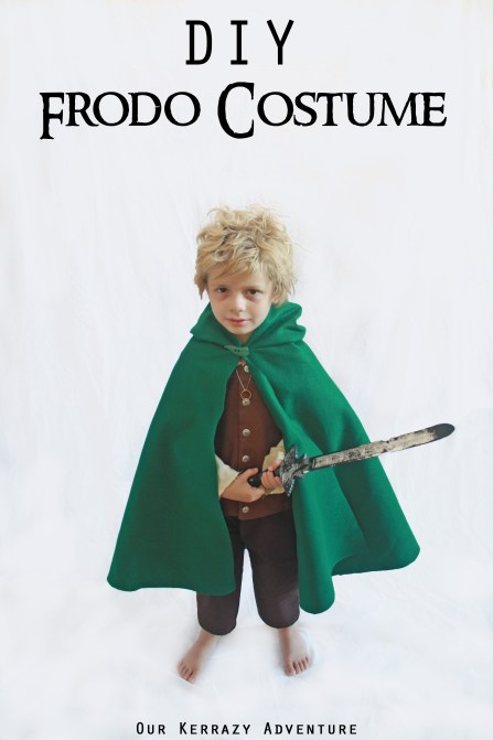 Diy frodo costume tutorial our kerrazy adventure diy frodo costume child lotr costume copy solutioingenieria Choice Image