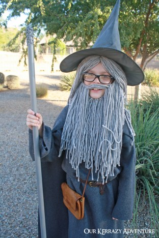 Diy gandalf costume tutorial our kerrazy adventure gandalf the gray halloween costumes from lord of solutioingenieria Images