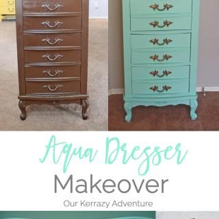 Aqua Dresser Makeover