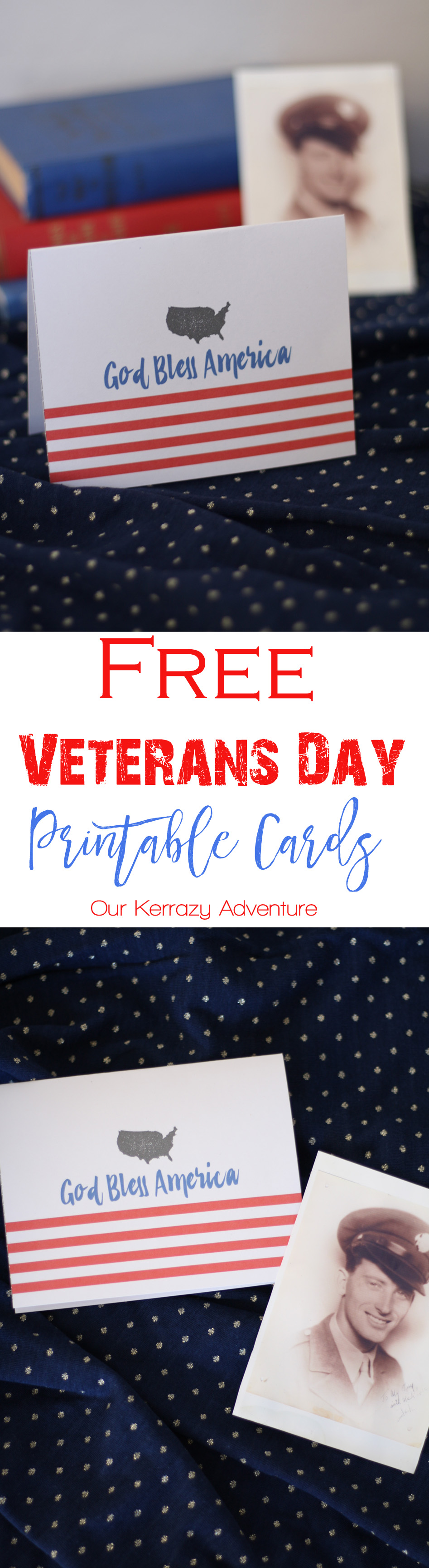 image about Free Printable Veterans Day Cards referred to as Free of charge Veterans Working day Card Printable - Our Kerrazy Experience