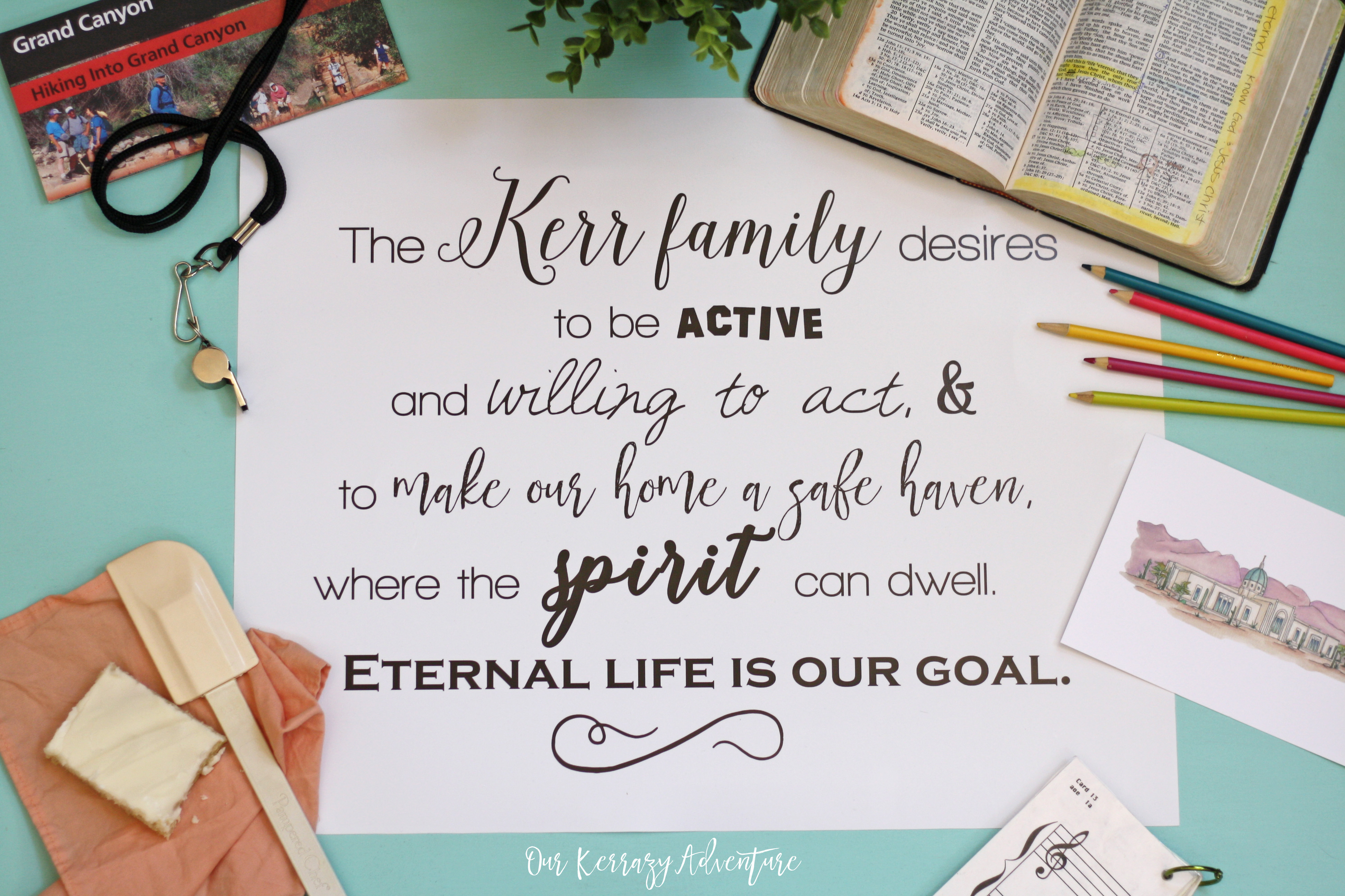 How To Create a Family Mission Statement - Our Kerrazy Adventure