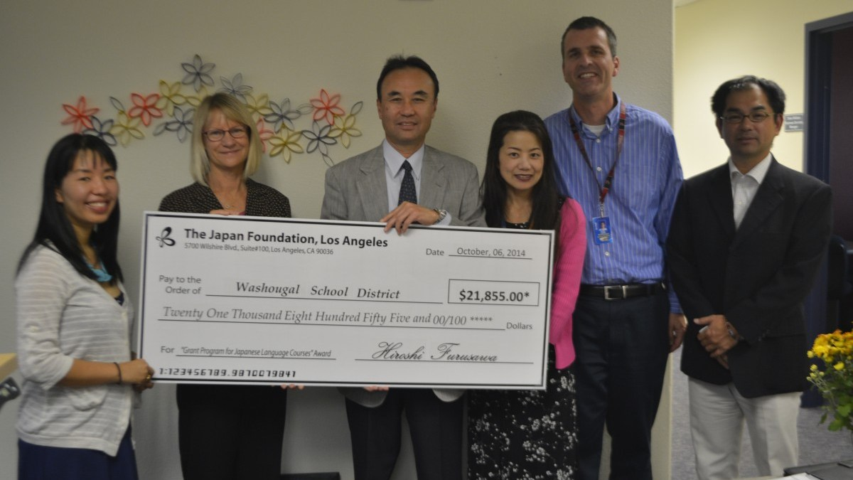 Grant presented to help support Japanese Language Program at Jemtegaard Middle School