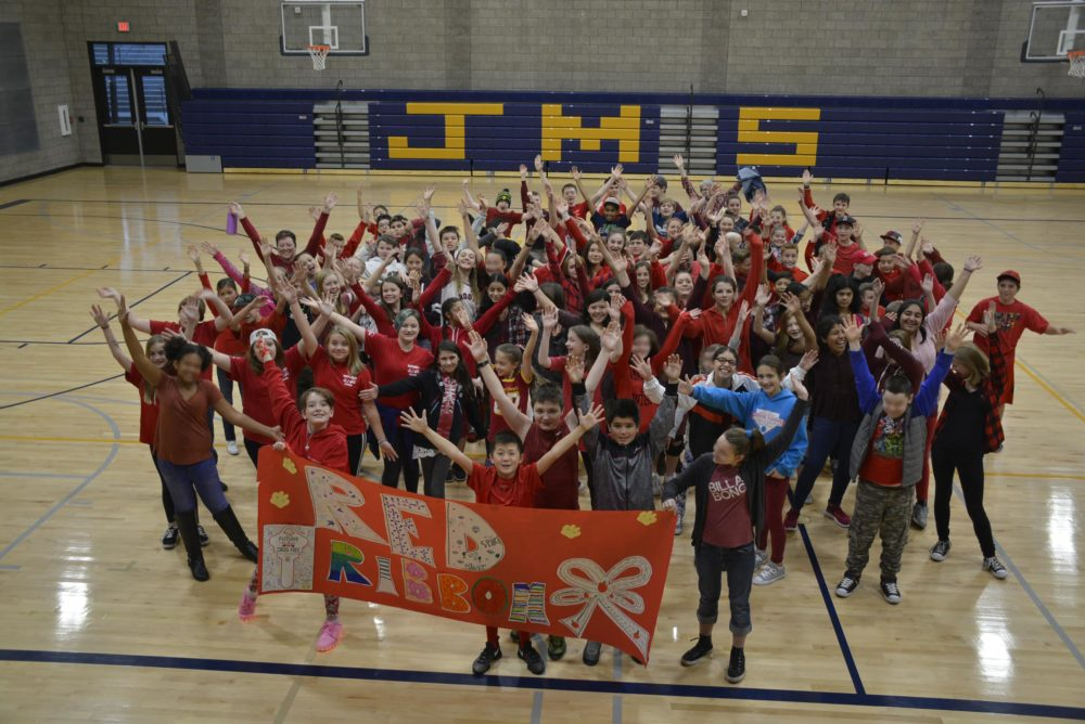 Washougal Middle Schools celebrate Red Ribbon Week