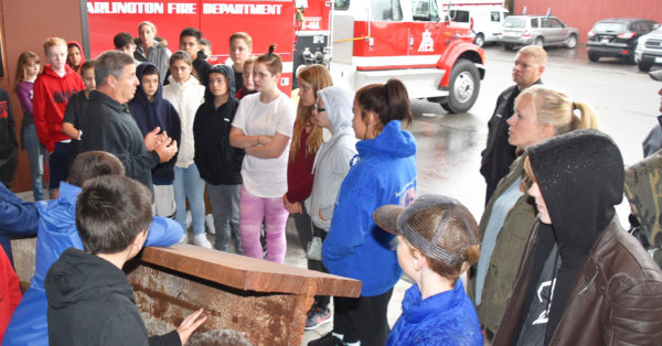 Post Middle School students experience history at Arlington 9/11 Memorial