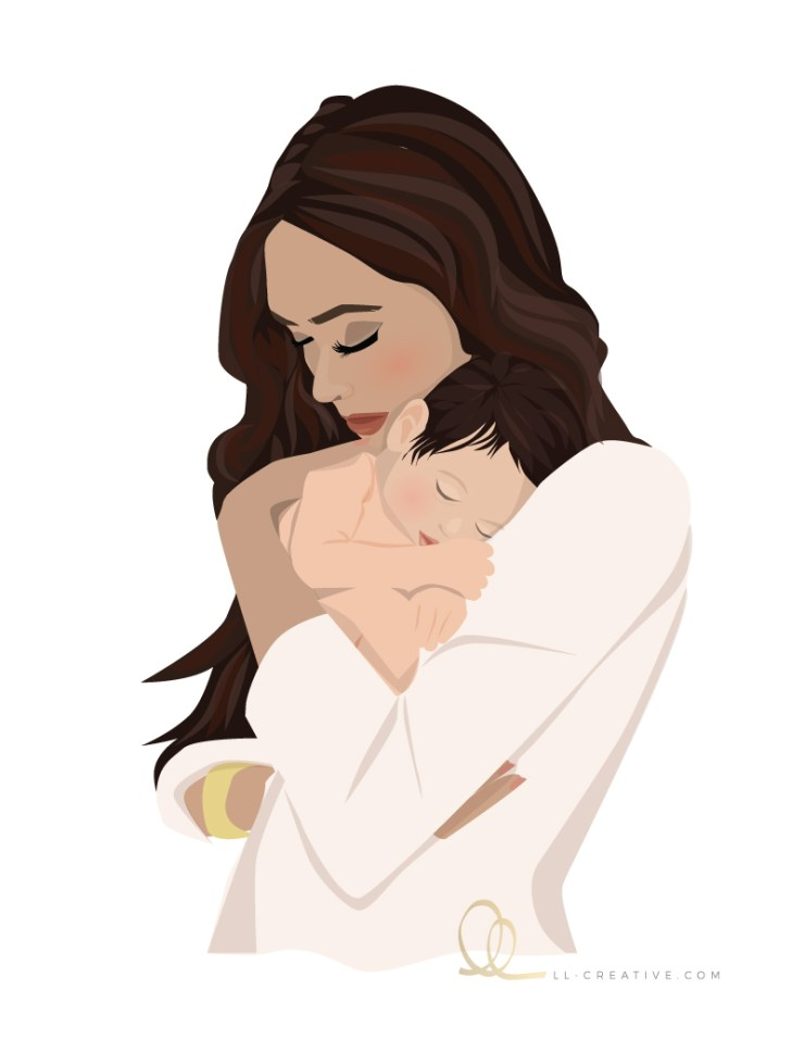 vector-illustration-mom-and-baby-ll-creative