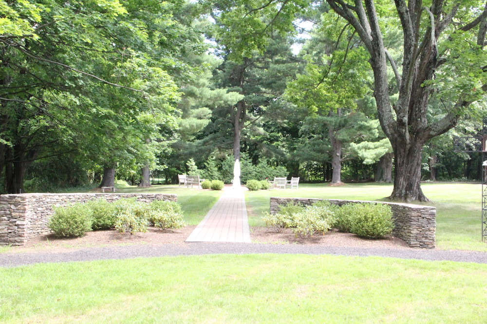 Rosary Garden in the grounds at OLC