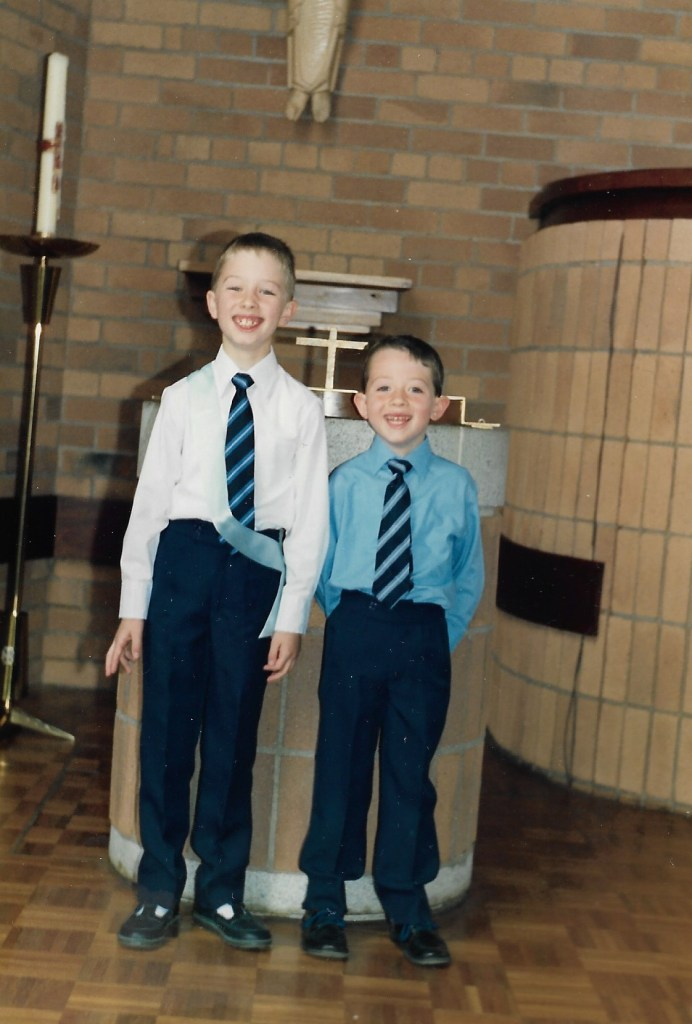 Mark & Paul, Marks 1st communion 14 May 1989