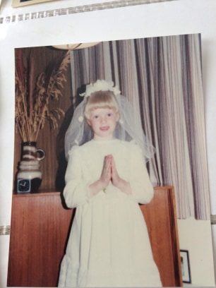 Nicola Falsey first communion 1988