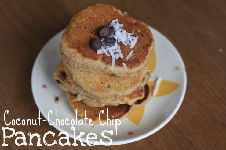 Recipe: Coconut-Chocolate Chip Pancakes