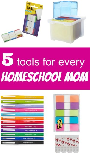 5 tools for every homeschool mom 222.ourlittlebunch.com