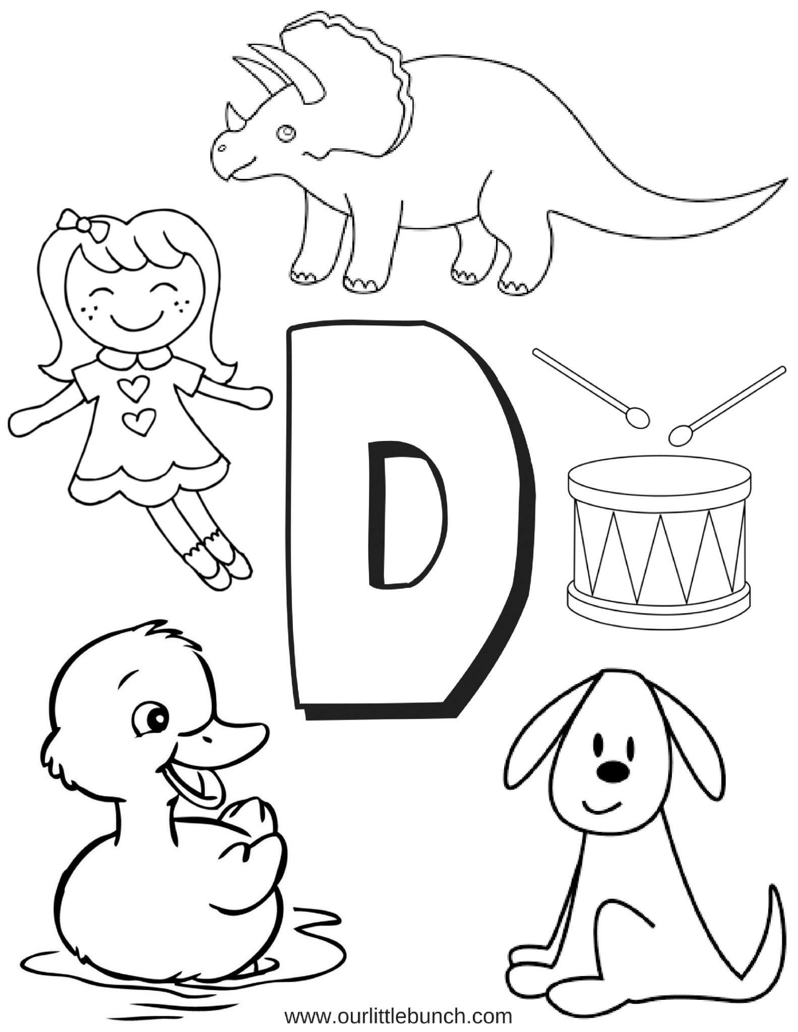 D Is For Duck Worksheet