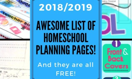 Awesome List of Free Homeschool Planners!