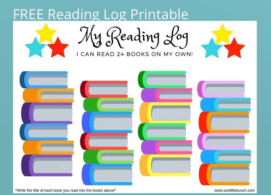 FREE Reading Log Printable