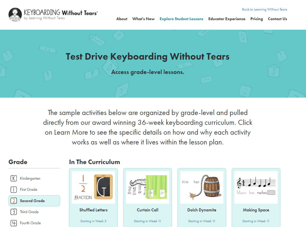 typing for homeschool Keyboarding without Tears