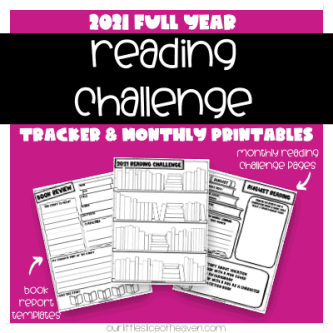 2021 reading challenge tracker and printables