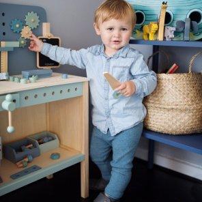 Værktøjsbænk, værktøjskasse & Legeværktøj