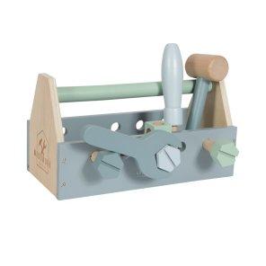 Little Dutch - Værktøjskasse i træ - Blå
