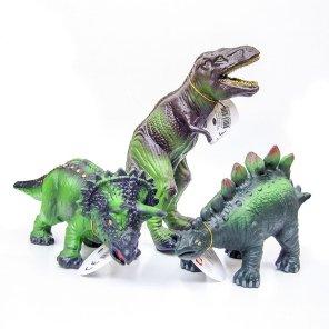 green rubber toy our little toyshop dinosaur dino t-rex