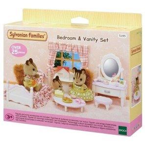 banity set soveværelsemøbler sylvanian families our little toyshop sminkebord