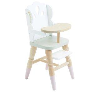 dukkehøjstol højstol dukke baby le tog van our little toyshop