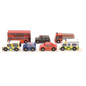 London billet le toy van our little toyshop brandbil politibil bus taxa træbil legetøjsbil