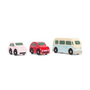 retro biler i træ retrobiler le toy van our little toyshop vintage bil rugbrødsbil folkevogn volkewagen