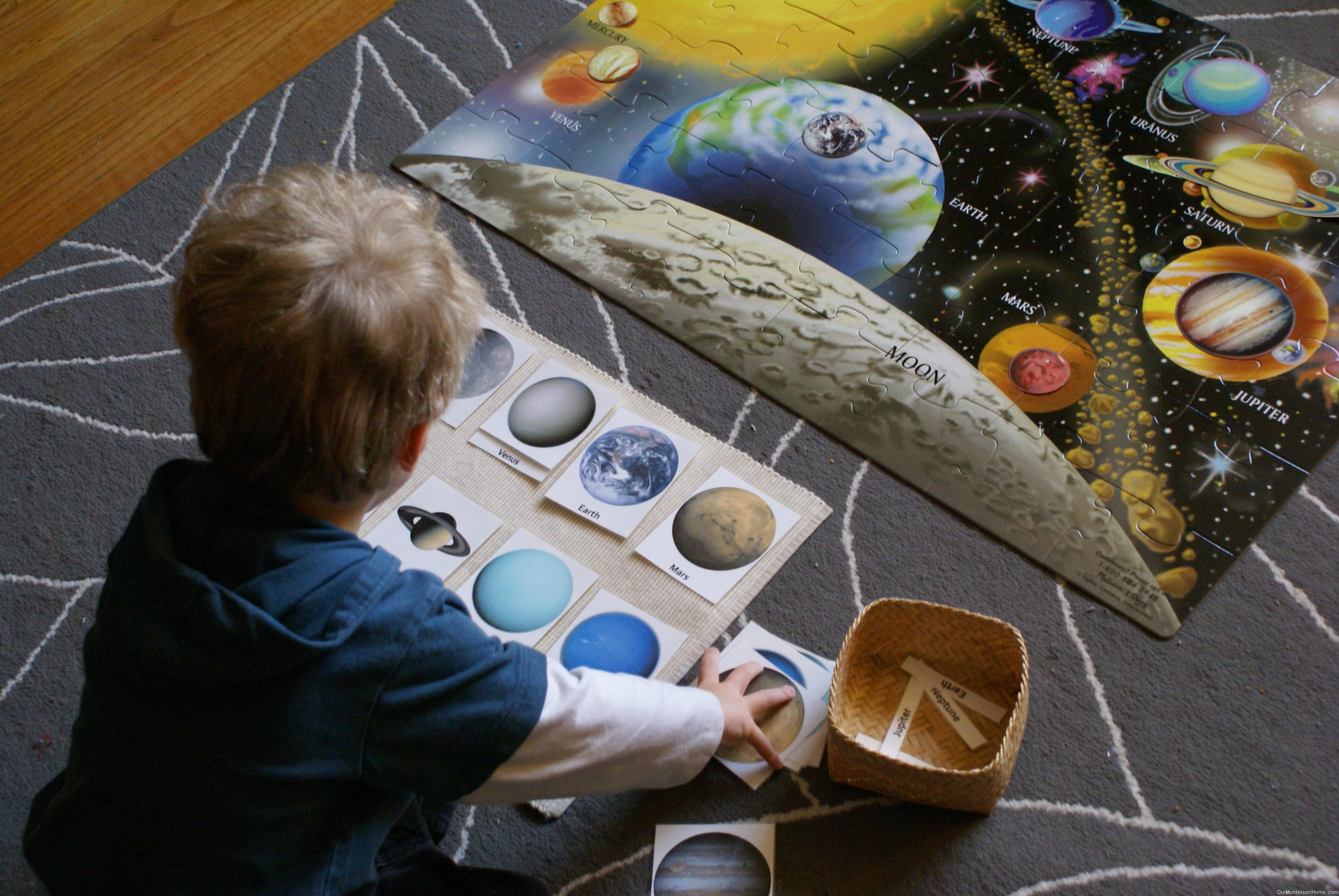 Montessori Inspired Solar System Unit
