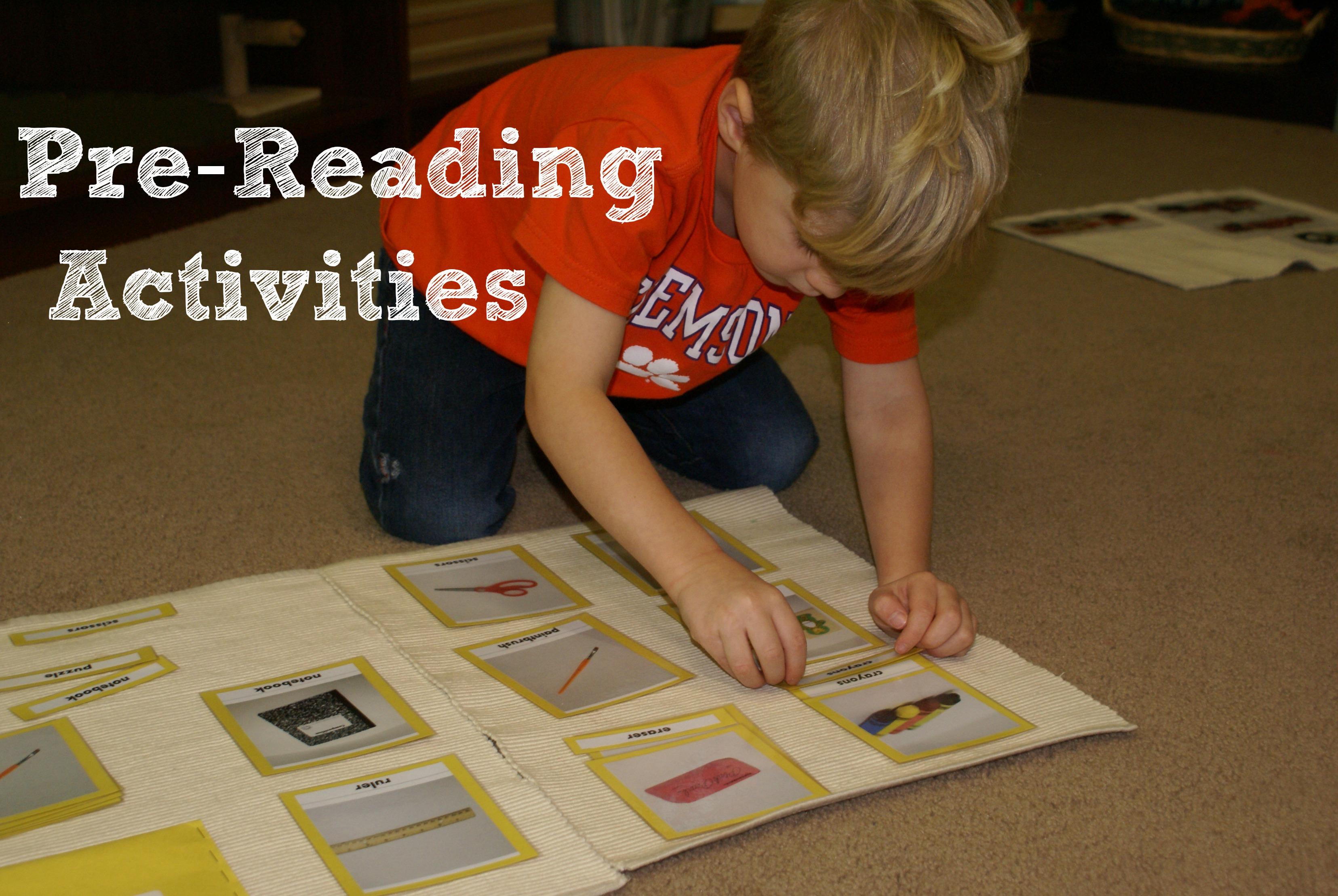 Montessori Pre Reading Activities