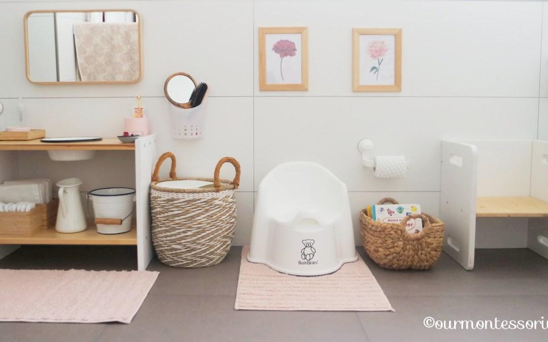 Cosimas Bereich im Badezimmer mit 18 Monaten (Teil 1): Unser Montessori Waschtisch