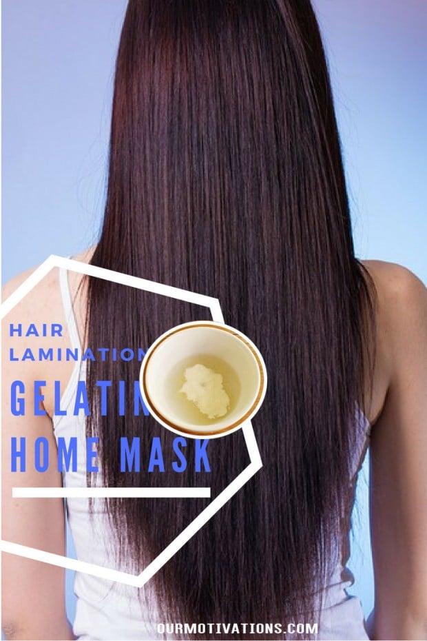 Gelatin Hair Mask at home