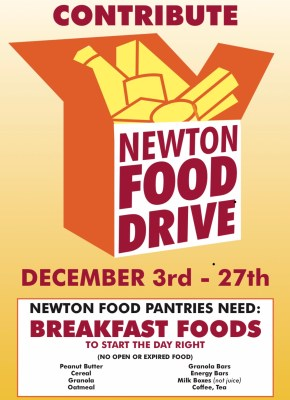 Newton Food Drive BREAKFAST FOODS for our Newton Food Pantries
