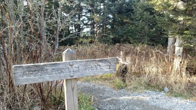 The Appalachian Trail passes over Clingmans Dome