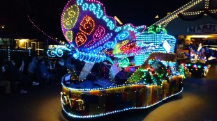 Love is Like a Butterfly float in the Parade of Many Colors at Dollywood