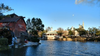 From the Liberty Belle paddle boat at Magic Kingdom (January 4, 2018)